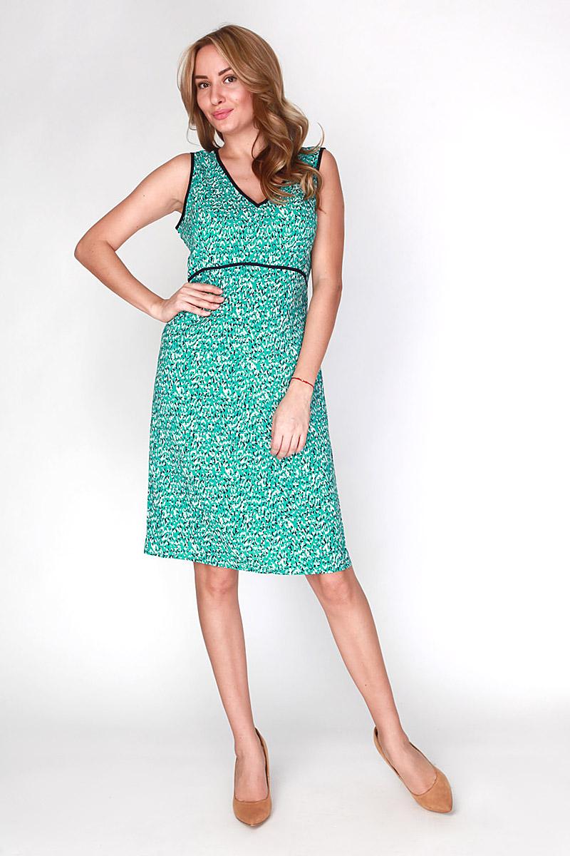 Платье Vis-A-Vis, цвет: бирюзовый. D-1-15-30. Размер L (48)D-1-15-30Элегантное платье Vis-A-Vis выполнено из 100% вискозы. Такое платье обеспечит вам комфорт и удобство при носке и непременно вызовет восхищение у окружающих.Модель-миди на широких бретельках с V-образным вырезом горловины выгодно подчеркнет все достоинства вашей фигуры. Изделие застегивается на скрытую застежку-молнию сбоку. Модель оригинальным принтом в виде абстрактных пятен. Изысканное платье-миди создаст обворожительный и неповторимый образ.Это модное и комфортное платье станет превосходным дополнением к вашему гардеробу, оно подарит вам удобство и поможет подчеркнуть свой вкус и неповторимый стиль.