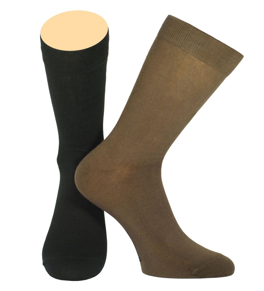 Носки мужские Collonil, цвет: черный, коричневый, 2 пары. CE3-40/06. Размер 39-41CE3-40/06Мужские носки Collonil изготовлены из эластичного хлопка с добавлением полиамида.Удлиненная широкая резинка не сдавливает и комфортно облегает ногу.В комплекте 2 пары.