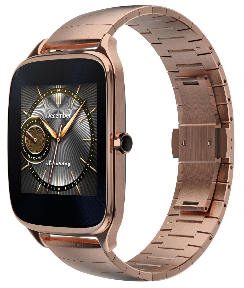 ASUS ZenWatch 2 WI501Q(BQC), Gold смарт-часы4712900359732Asus ZenWatch 2 - традиции и инновации в одном стильном устройстве.ZenWatch 2 - это стильные часы с мощной функциональностью. Корпус часов изготавливается извысококачественной нержавеющей стали.Отражая традиционный дизайн часов, на корпусе ZenWatch 2 имеется металлическая кнопка, котораяиспользуется в качестве элемента управления.Помимо 60 стандартных циферблатов можно создавать свои собственные варианты оформления экрана часовс помощью приложения FaceDesigner.С помощью часов ZenWatch 2 можно легко обмениваться короткими текстовыми сообщениями, смайликами ирисунками с друзьями и близкими.Просматривайте важную информацию и реагируйте на нее простым прикосновением к экрану или с помощьюголосовой команды.Встроенный в часы шагомер обладает высокой точностью, позволяя пользователю следить за своейфизической активностью и прогрессом в достижении фитнес-целей. Также имеется функция мониторинга сна.Зарядное устройство с магнитным разъемом ускоряет подзарядку по сравнению с оригинальнымичасами ZenWatch. Заряд аккумулятора повышается с 0% до 60% всего за 15 минут!Операционная система: Android Wear Процессор: Qualcomm Snapdragon 400 (4 ядра), 1,2 ГГц Оперативная память: 512 МБ Стекло Corning Gorilla Glass 3