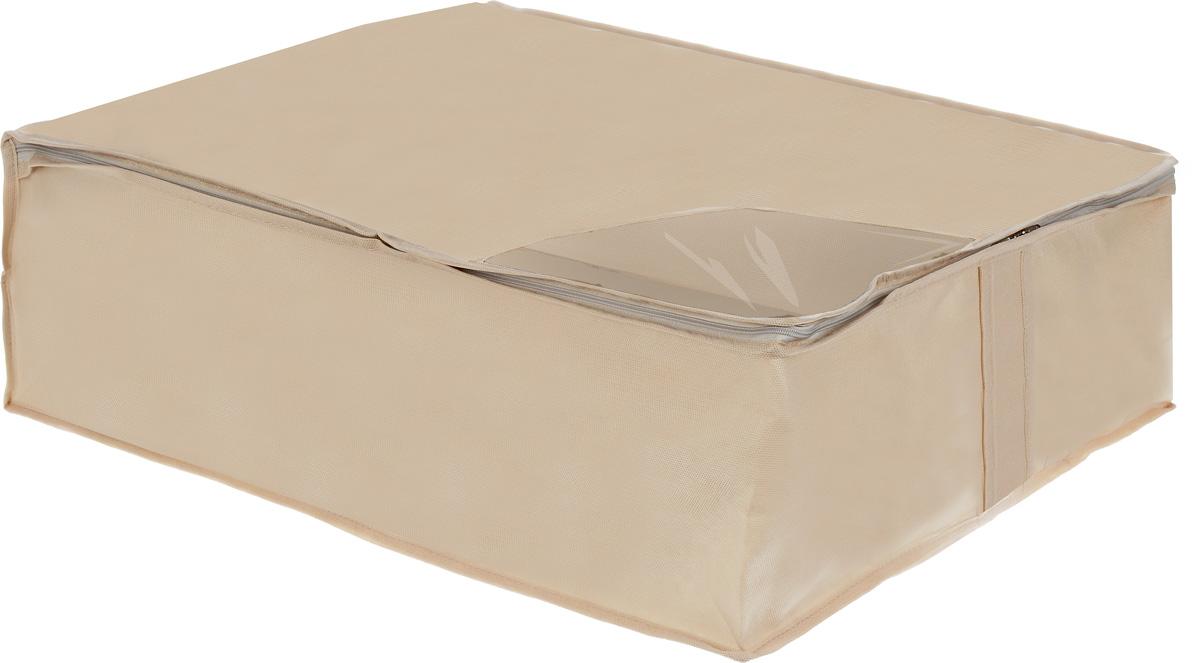 Кофр для хранения Miolla, складной, цвет: бежевый, 50 x 58 x 19 смCHL-5-1Компактный складной кофр Miolla изготовлен из высококачественногонетканого материала, которыйобеспечивает естественную вентиляцию, позволяя воздуху проникать внутрь,но не пропускает пыль. Изделие закрывается откидной крышкой на молнию. Оригинальный дизайн будет отлично смотреться в любом интерьере. Размер кофра (в собранном виде): 50 x 58 x 19 см.