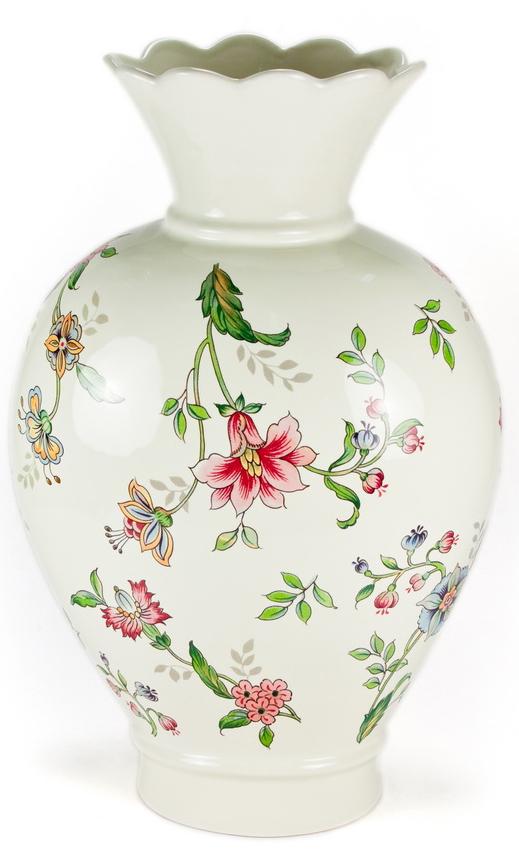 Ваза для цветов Nuova Cer Прованс, высота 31 смPRV-7438Ваза для цветов Nuova Cer Прованс изготовлена из высококачественной керамики и украшена цветочным узором. Такая оригинальная ваза прекрасно оформит интерьер дома, офиса или дачи. Подойдет как для декора, так и в качестве вазы для цветов. Высота вазы: 31 см.