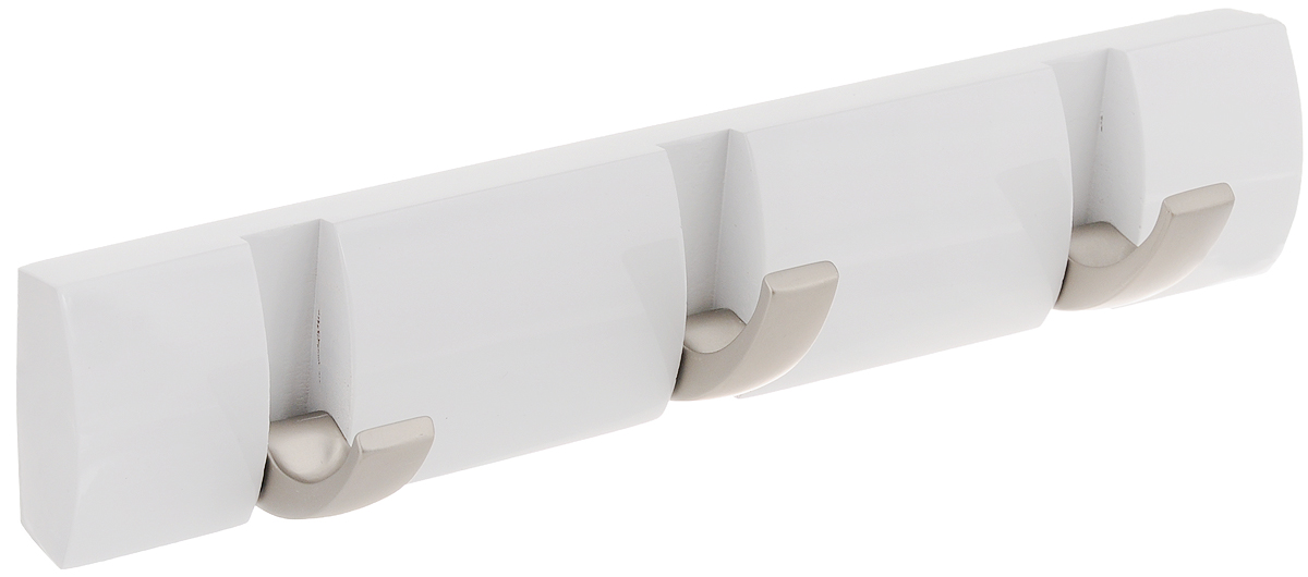 Вешалка настенная Umbra Flip, цвет: белый, 3 крючка umbra вешалка настенная sticks серая