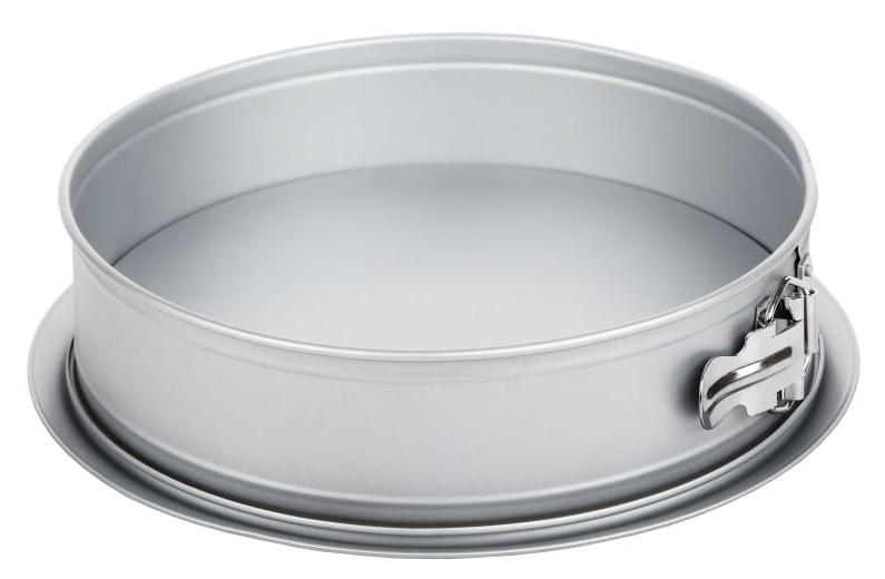 Форма для выпечки Walmer Silver, разъемная, с увеличенным дном, диаметр 26 смW12022678Разъемная форма для выпечки Walmer Silver, выполненная из высококачественной углеродистой стали, гарантирует великолепный результат. Материал корпуса обеспечивает максимальную теплоотдачу, экономя время приготовления. Двухслойное антипригарное покрытие Xynflon полностью безопасно и не выделяет вредных веществ при нагреве. Изделие оснащено разъемным механизмом, благодаря которому готовое блюдо очень легко вынимать. Можно мыть в посудомоечной машине.