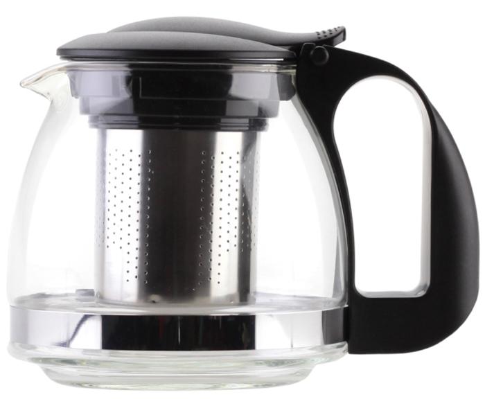 Чайник заварочный Walmer Aster, цвет: черный, 700 мл. W15006070IRH-421Заварочный чайник Walmer Aster - прост и удобен. Заварочный чайник Walmer Aster обладает исключительно удачным дизайном – такой аксессуар найдет свое место на каждой кухне. Стеклянный корпус позволяет наблюдать за процессом заваривания – подарите себе пару приятных минут, наслаждаясь насыщенным цветом и душистым ароматом хорошего чая! Наличие встроенного сито-фильтра из нержавеющей стали с мелкими ячейками гарантирует великолепное качество заваривания: крупнолистовой чай или мелкий ройбуш – ни одна чаинка не попадет в готовый напиток. Просто засыпьте необходимое число ложек и налейте кипяток – в отличие от чайного пакетика, содержимое фильтра будет завариваться постепенно, что гарантирует полноту вкуса и аромата напитка. Кроме того, Aster обеспечит максимальный комфорт – термоизолированная ручка не нагревается, даже если в стеклянный корпус.Объем: 700 мл.