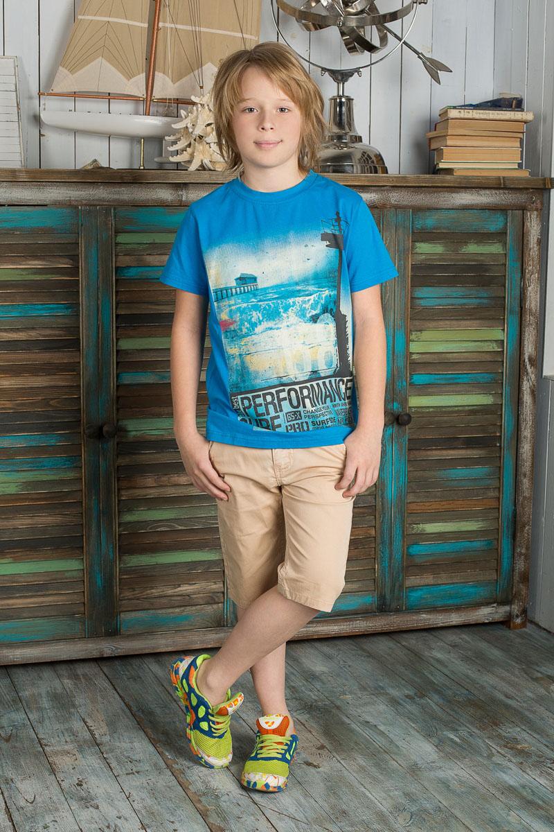 Бриджи для мальчика Luminoso, цвет: песочный. 196732. Размер 146, 11 лет