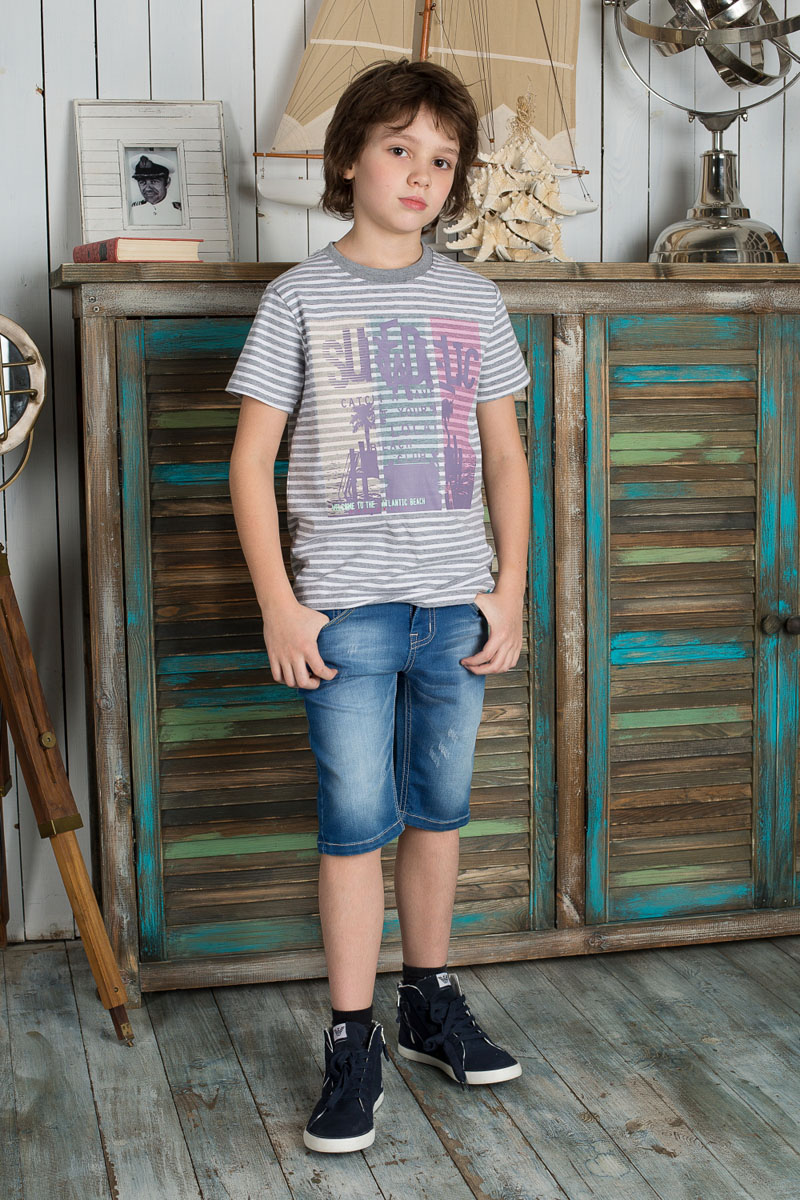 Шорты для мальчика Luminoso, цвет: голубой. 196718. Размер 140, 10 лет