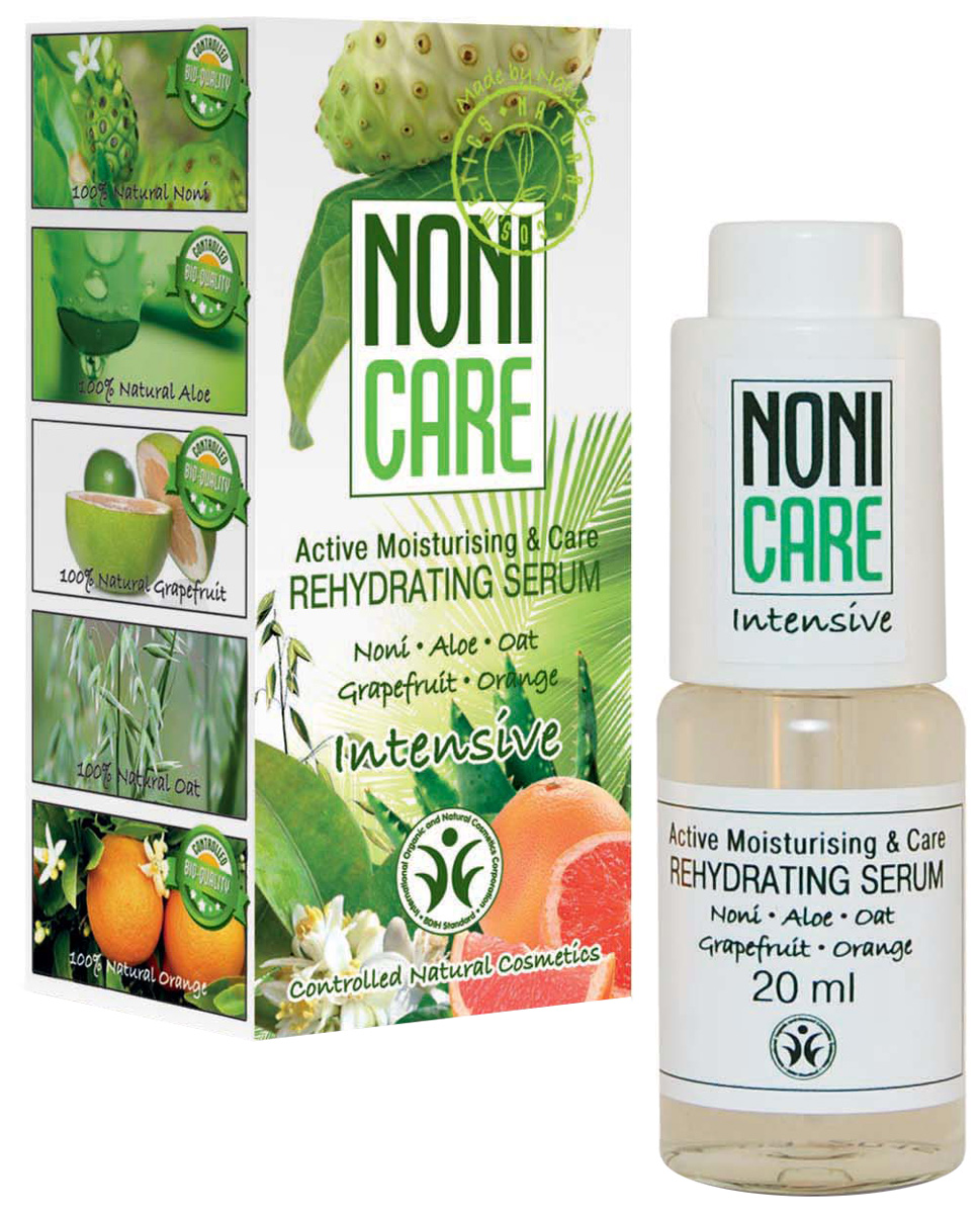 Nonicare Увлажняющая сыворотка Intensive - Rehydrating Serum 20 мл5903240869350Ультраконцентрированная сыворотка обеспечивает быстрое, пролонгированное увлажнение на 24 часа. Содержит активный увлажняющий комплекс, который эффективно решает проблему обезвоженности кожи, защищает от сухости, устраняет ощущение стянутости и дискомфорта. Сок Нони насыщает кожу необходимыми микроэлементами и витаминами, оказывает мощное антиоксидантное действие, нейтрализует агрессивное воздействие окружающей среды.Экстракт овса питает, укрепляет и моментально увлажняет уставшую кожу. Экстракт алоэ барбадосского оказывает успокаивающее и расслабляющее действие. Сыворотка выравнивает кожный рельеф, разглаживает мимические морщинки, образовавшиеся в результате обезвоженности кожи, способствует сохранению влаги в глубоких слоях эпидермиса. Регулярное курсовое применение сыворотки продлевает молодость кожи, делая её гладкой, упругой и шелковистой. Рекомендована для всех типов кожи с 25 лет.