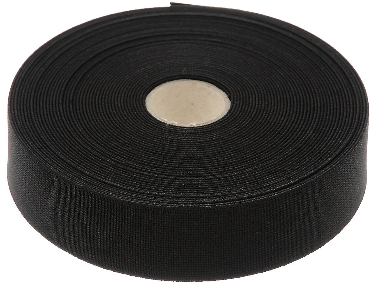 Лента эластичная Prym, прочная, цвет: черный, ширина 3 см, длина 10 м лента декоративная prym клетка цвет белый черный 15 мм 3 м