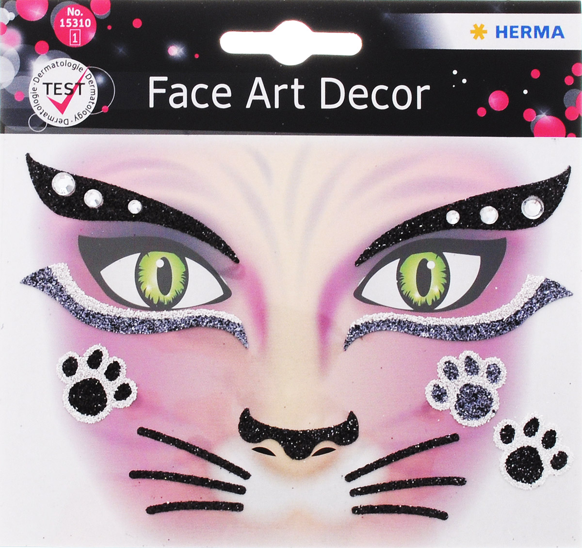 Herma Наклейки на лицо Face Art Pink Cat
