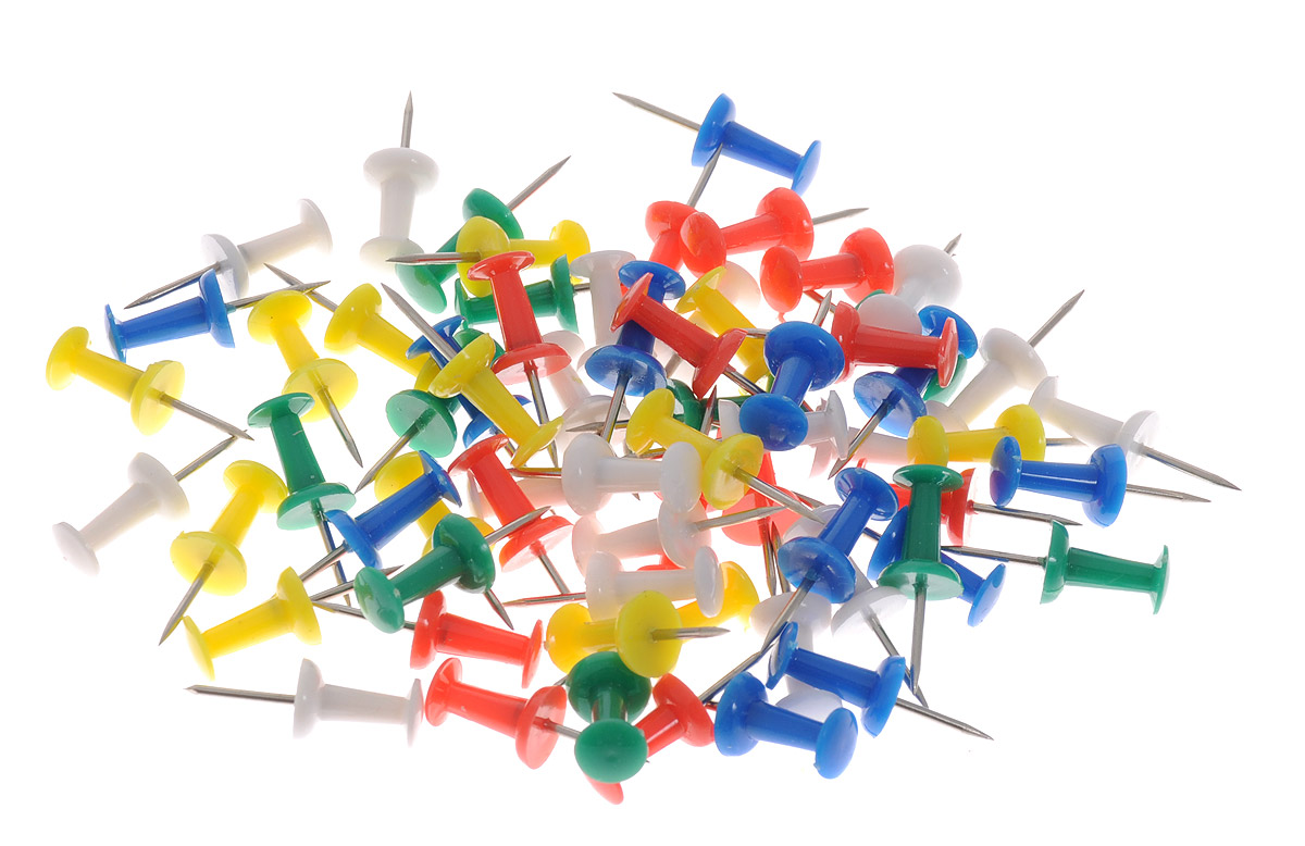 Centrum Кнопки канцелярские цветные 100 шт centrum карандаши цветные monster high