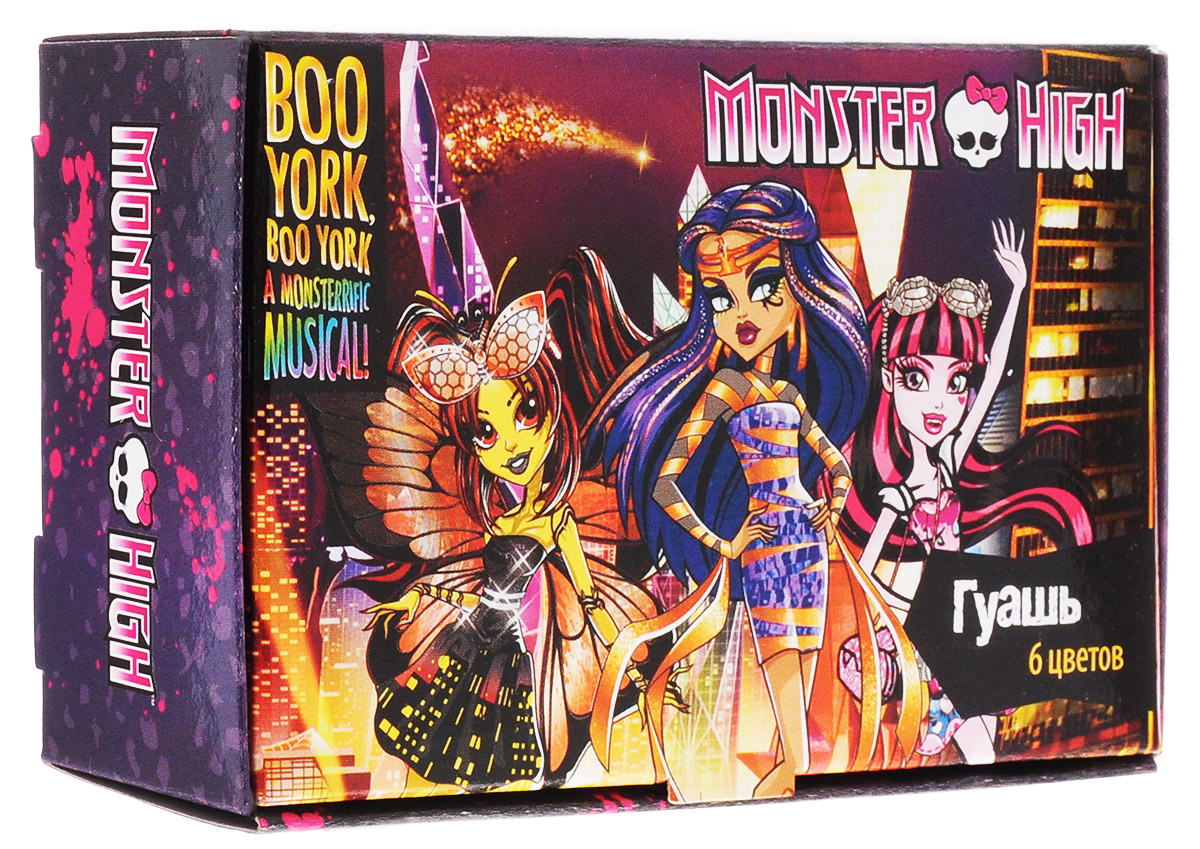 Centrum Гуашь Monster High 6 цветов4030969849996Набор гуаши Centrum Monster High 6 цветов предназначен для декоративно-оформительских работ и детского творчества. Высокое качество продукции позволит обеспечить необходимые условия для продуктивных занятий изобразительным искусством, аяркое и оригинальное оформление в виде персонажей знаменитого мультсериала «Школа Монстров»обязательно порадует вашего ребёнка и вдохновит на множество новых творческих успехов и побед.Рекомендуемый возраст от 3-х лет.