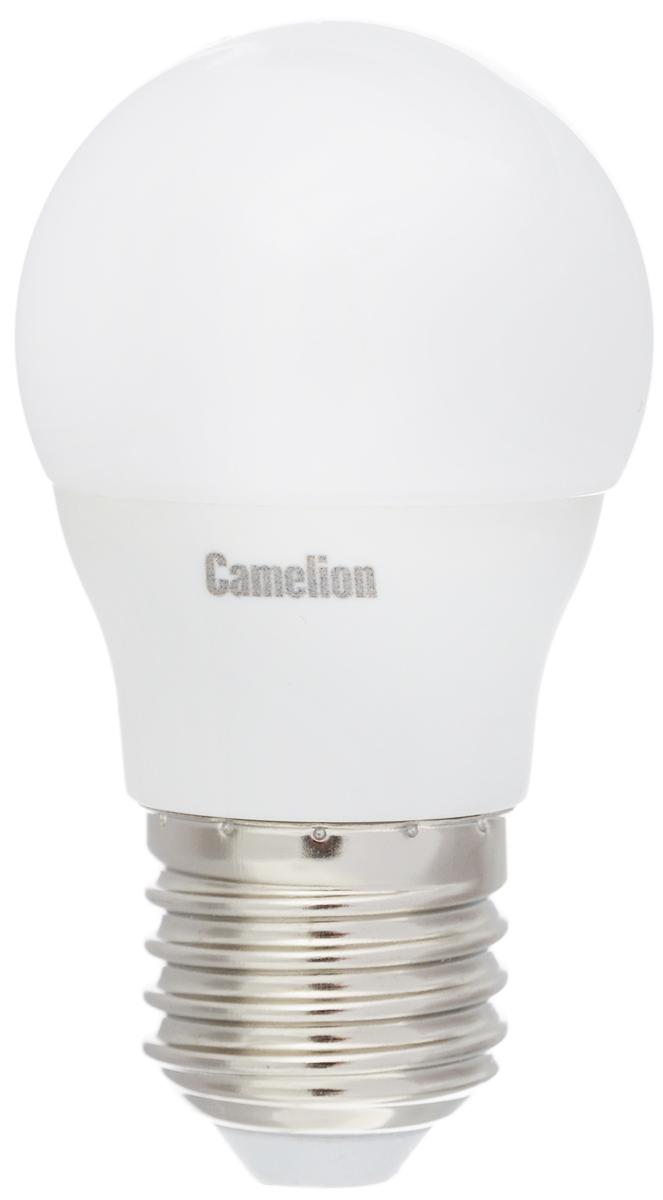 Лампа светодиодная Camelion, теплый свет, цоколь Е27, 3W11374Светодиодная лампа Camelion - это инновационное решение, разработанное на основе новейших светодиодных технологий (LED) для эффективной замены любых видов галогенных или обыкновенных ламп накаливания во всех типах осветительных приборов. Она хорошо подойдет для создания рабочей атмосферыв производственных и общественных зданиях, спортивных и торговых залах, в офисах и учреждениях. Лампа не содержит ртути и других вредных веществ, экологически безопасна и не требует утилизации, не выделяет при работе ультрафиолетовое и инфракрасное излучение. Напряжение: 220-240 В / 50 Гц.Индекс цветопередачи (Ra): 77+.Угол светового пучка: 220°. Использовать при температуре: от -30° до +40°.