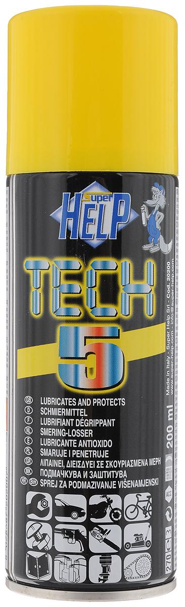 Cмазка многоцелевая SuperHelp Tech 5, для разблокировки и защиты механических узлов, 200 мл20200Многоцелевая смазка SuperHelp Tech 5 предназначена для восстановления работоспособности и защиты узлов и механизмов работающих в условиях высоких нагрузок. Смазывает и облегчает демонтаж заржавевших деталей, предохраняет от коррозии. Водостойкая. Предохраняет электронные компоненты от влаги. Продлевает срок службы обработанных узлов. Имеется трубка для струйного распыления спрея.Объем: 200 мл. Товар сертифицирован.