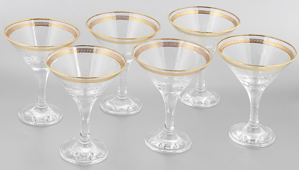 Набор бокалов для мартини Гусь-Хрустальный Каскад, 170 мл, 6 шт набор бокалов для бренди гусь хрустальный нежность 410 мл 6 шт