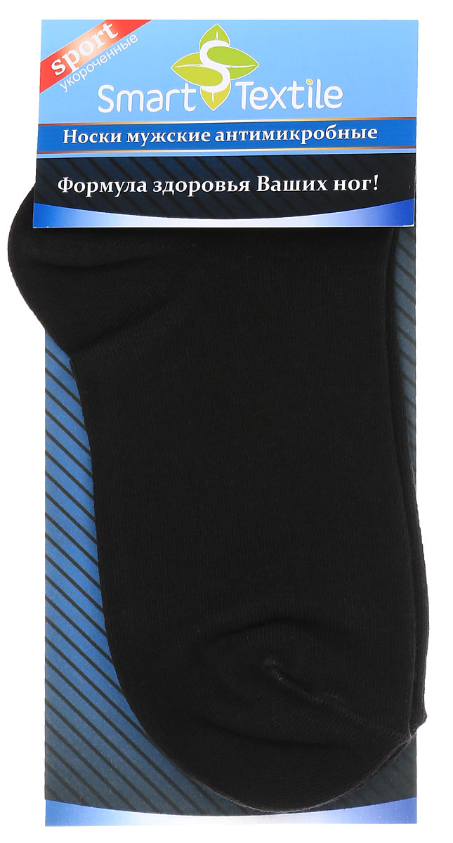Носки женские Smart Textile Гигиена-грибок, противогрибковые и антимикробные, цвет: черный. Н417. Размер 23Н417Удобные, укороченные женские носки Smart Textile Гигиена-грибок, изготовленные из высококачественного комбинированного материала, идеально подойдут вам. Носки выполнены из эластичного хлопка с добавлением полиамида, что позволяет им легко тянуться, делая их комфортными в носке. Эластичная резинка плотно облегает ногу, не сдавливая ее, обеспечивая комфорт и удобство. Усиленная пятка и мысок обеспечивают надежность и долговечность. Противогрибковые носки Гигиена-грибок обладают специальными свойствами, благодаря дополнительной обработке швейцарским препаратом Sanitized Ag. Препарат Sanitized Ag разработан в Швейцарии, не вызывает раздражения кожи. Данный противогрибковый препарат, которым пропитаны текстильные волокна, выделяется из ткани, пока вы носите носки, благодаря чему обеспечивается надежная защита от болезнетворных микроорганизмов в течение длительного времени. Такие носки надежно защитят ваши ногти, пальцы и ступни ног от грибковых и гнойничковых заболеваний. Носки Гигиена-грибок способны уменьшить неприятный запах пота от ног при продолжительном ношении плотной, не дышащей обуви.