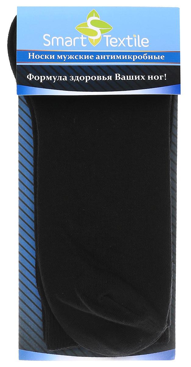 Носки женские Smart Textile Гигиена-грибок, противогрибковые и антимикробные, цвет: черный. Н418. Размер 25