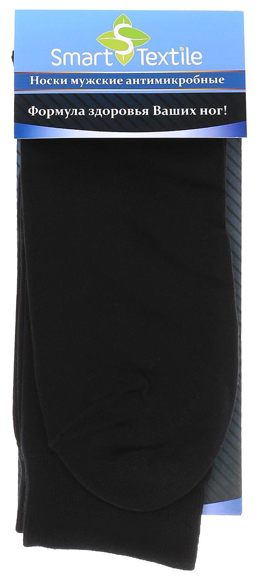 Носки мужские Smart Textile Гигиена-грибок, противогрибковые и антимикробные, цвет: черный. Н418. Размер 27Н418Удобные мужские носки Smart Textile Гигиена-грибок, изготовленные из высококачественного комбинированного материала, идеально подойдут вам. Носки выполнены из эластичного хлопка с добавлением полиамида, что позволяет им легко тянуться, делая их комфортными в носке. Эластичная резинка плотно облегает ногу, не сдавливая ее, обеспечивая комфорт и удобство. Усиленная пятка и мысок обеспечивают надежность и долговечность. Противогрибковые носки Гигиена-грибок обладают специальными свойствами, благодаря дополнительной обработке швейцарским препаратом Sanitized Ag. Препарат Sanitized Ag разработан в Швейцарии, не вызывает раздражения кожи. Данный противогрибковый препарат, которым пропитаны текстильные волокна, выделяется из ткани, пока вы носите носки, благодаря чему обеспечивается надежная защита от болезнетворных микроорганизмов в течение длительного времени. Такие носки надежно защитят ваши ногти, пальцы и ступни ног от грибковых и гнойничковых заболеваний. Носки Гигиена-грибок способны уменьшить неприятный запах пота от ног при продолжительном ношении плотной, не дышащей обуви.
