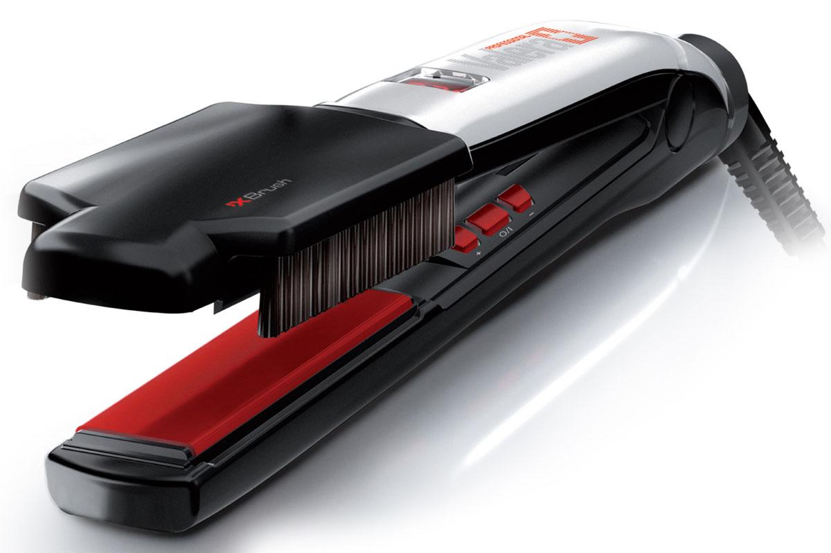 Valera 100.01/IS Swiss`X – Brush&Shine, Black профессиональный выпрямитель для волос100.01/ISПрофессиональный выпрямитель волос (утюжок для волос) Valera 100.01/IS Swiss`X – Brush&Shine с керамическим и турмалиновым покрытием и цифровым управлением.Турмалиновые керамические пластины обеспечивают равномерное выпрямление волос, делая их гладкими и предотвращая спутывание волос, придают волосам здоровый блеск.Турмалин — естественный источник отрицательных ионов для целебного и антистатического воздействия.Floating Plates System — система подпружиненных пластин для обеспечения идеального соприкосновения с волосами.