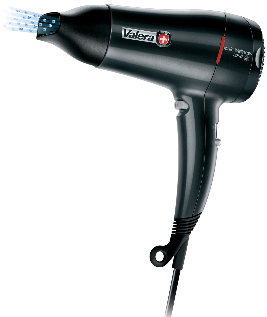 Valera 545.08DV Ionic Wellnes, Black фен со сниженным уровнем шума