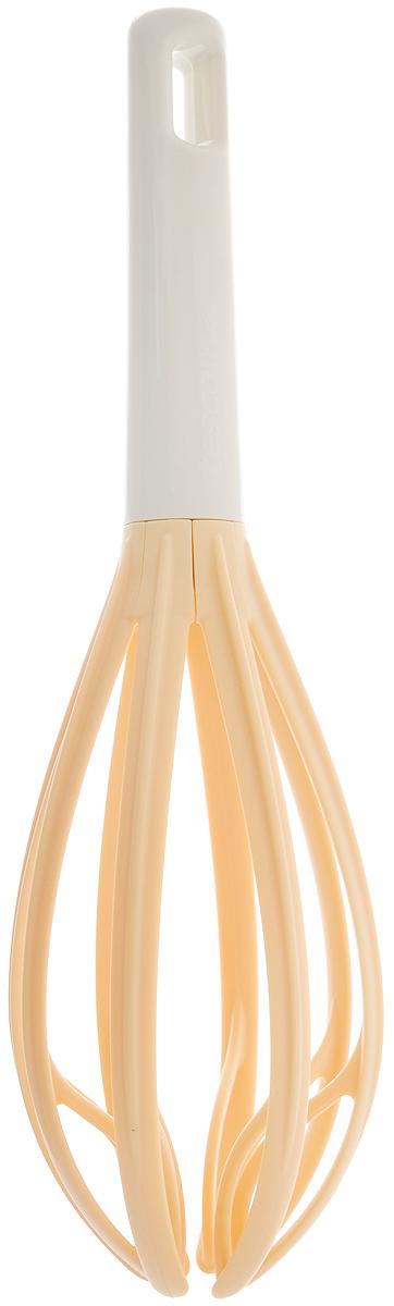 Венчик Tescoma Delicia, цвет: желтый, светло-серый, длина 27 см630051Венчик Tescoma Delicia, выполненный из термостойкогонейлона, отлично подходит для интенсивного взбиваниясливок, яиц, теста, кремов и соусов. Такой материалвыдерживает температуру до +210°C. Эргономичная ручка,выполненная из пластика, удобно ложиться в руке и делаетпроцесс взбивания легким. Практичный и удобный венчик Tescoma Delicia займетдостойное место среди аксессуаров на вашей кухне. Можно мыть в посудомоечной машине. Длина венчика: 27 см. Ширина рабочей части: 7 см.Размер рабочей части: 15,5 х 7 см.