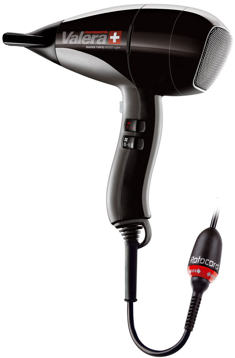Valera SN 6000Y RC Swiss Nano Light, Black профессиональный фен valera sn 9100y