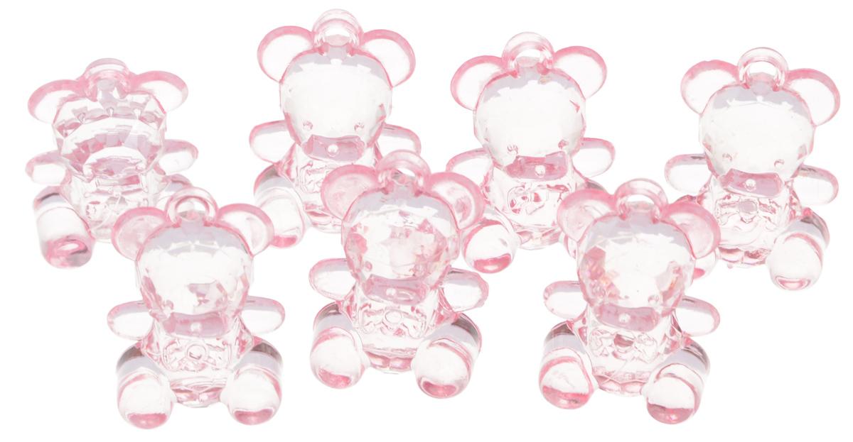 Декоративный элемент Lan Jing Ling Мишка, цвет: розовый, 6 шт декоративный элемент lan jing ling платьишко цвет розовый 6 шт