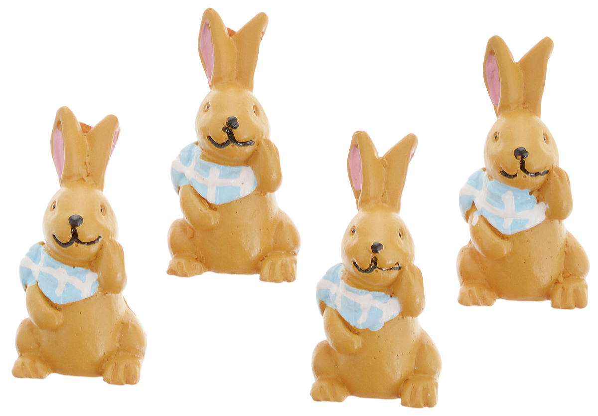 Фигурка декоративная Астра Кролик, 33 х 16 мм, 4 шт сушилка для белья gimi jolly silver