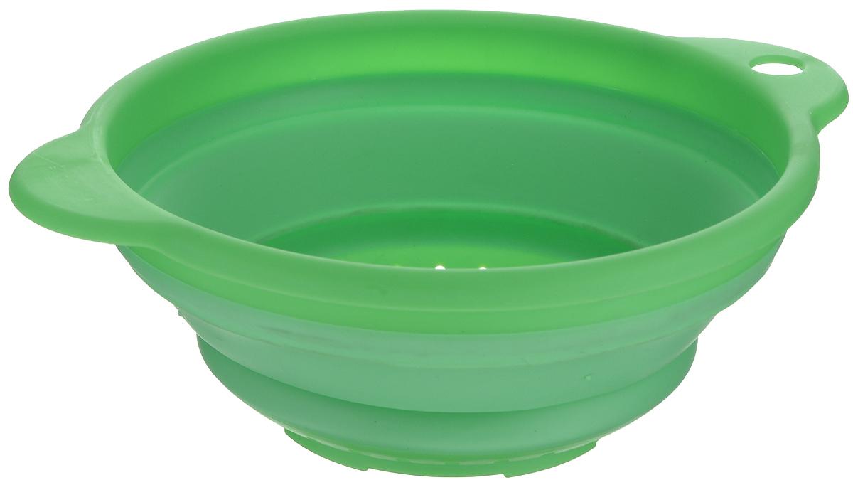 Дуршлаг Дом и все, что в нем, складной, цвет: зеленый, диаметр 20 см832-021Складной дуршлаг Дом и все, что в нем изготовлен из высококачественныхполимерных материалов. Удобные ручки обеспечивают комфорт во времяиспользования. Дуршлаг легко складывается и раскладывается, благодаря чему незанимаетмного места на кухне. Размер (в сложенном виде): 23,5 см х 20 см х 3 см. Размер (в разложенном виде): 23,5 см х 20 см х 8 см. Диаметр: 20 см.