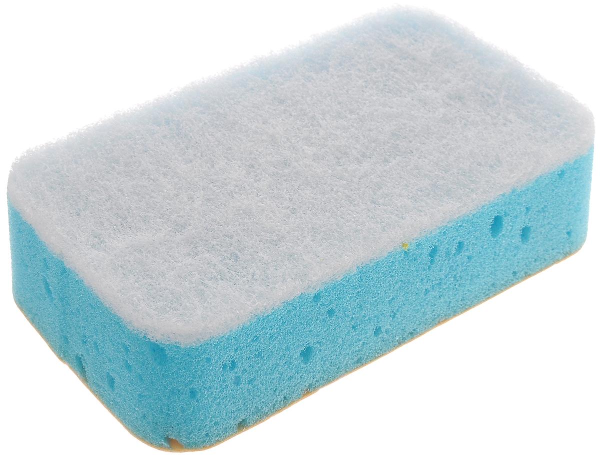 Губка для кафеля Paterra 2 в 1, трехслойная, 14,5 х 7,5 х 4 см406-008Губка Paterra 2 в 1 выполнена из полиуретана, деликатной фибры и искусственной замши. Предназначена для мытья и полировки блестящих поверхностей: кафеля, сантехники, хромированных изделий. Белый абразивный слой губки чистит и не оставляет царапин. Поверхность из искусственной замшиудаляет разводы и полирует. Поролон создает обильную пену. Слои изделия качественно склеены и не отслаиваются в процессе использования.