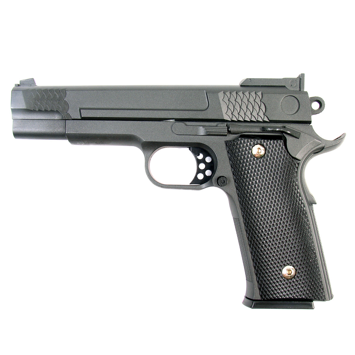 Пружинный пистолет G.20 является репликой известного пистолета Smith & Wesson 1911. Корпус пистолета цельнометаллический. В магазин вмещается 15 шариков BB 6 мм. Выстрел из пистолета осуществляется с помощью пружины, максимальная начальная скорость выстрела не более 50 м/с. Прицельные приспособления не регулируемые, пистолет предназначен для стрельбы на короткие дистанции.