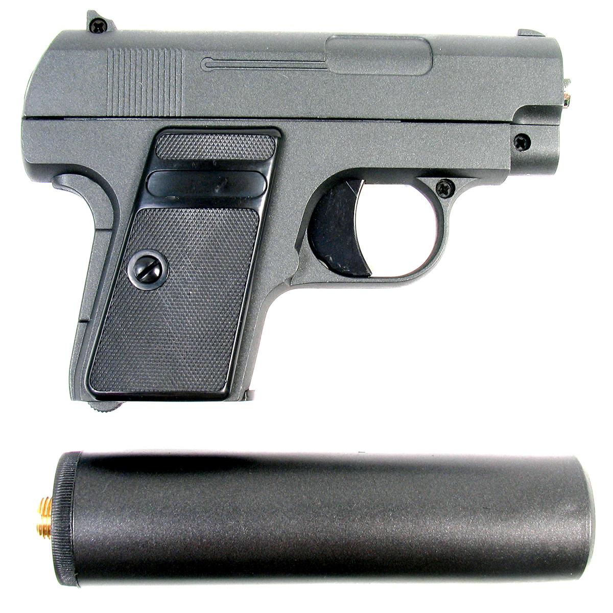 Пистолет страйкбольный Galaxy G.9A, пружинный, 6 мм страйкбольный пистолет galaxy g 19 walther p99