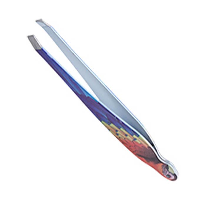 Пинцет для бровей Solinberg 010BDR, цветной, наклонное окончание с четкими гранями пемзы solinberg терка для ног solinberg 402 двухсторонняя наждачная поверхность 60 120 grit