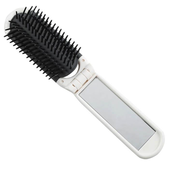 Расчёска с зеркалом Printскладная, зубцы-пластиковые штифты щетка массажная salon professional 6s33ттн пластиковая зубцы пластиковые штифты l 230 мм