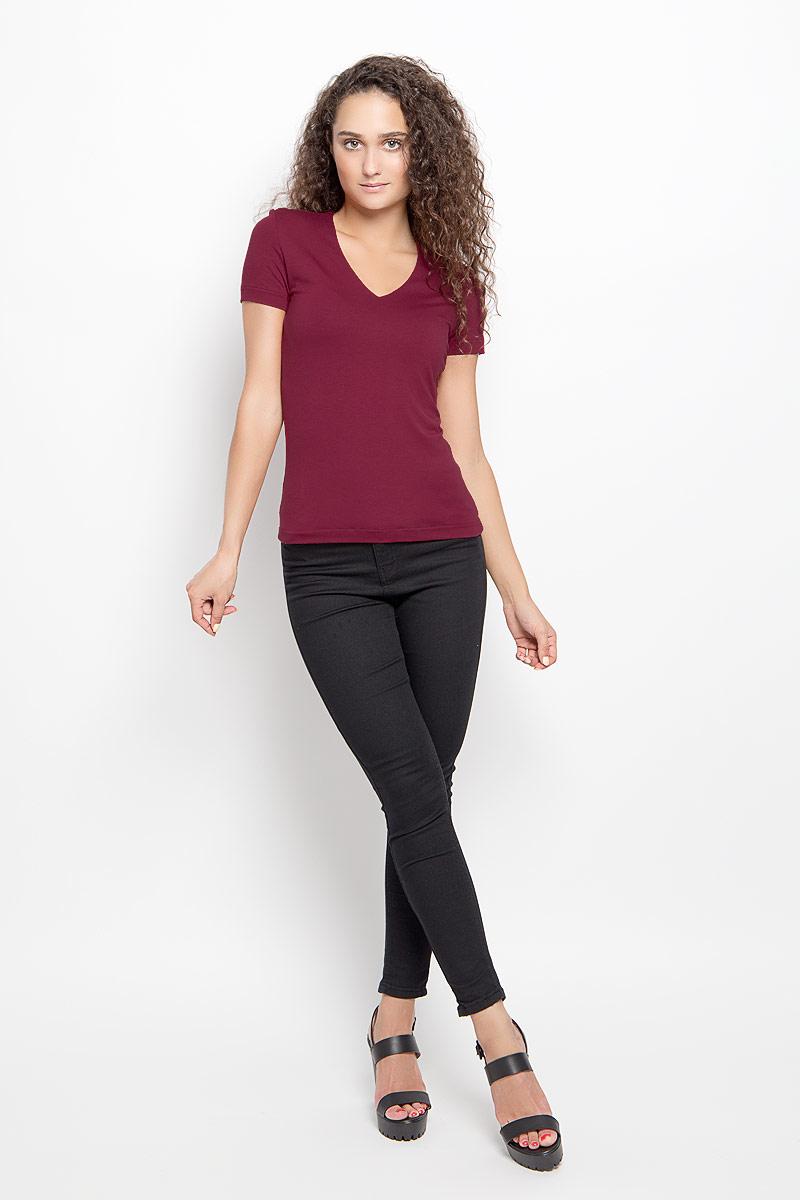 Футболка женская Ruxara, цвет: бордовый. 865000_41. Размер 44 футболка женская ruxara цвет молочный 1202700 6 размер 52
