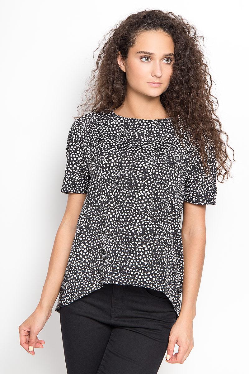 Блузка женская Ruxara, цвет: черный, белый. 1202341_2. Размер 42 блуза ruxara ruxara mp002xw0zzjf