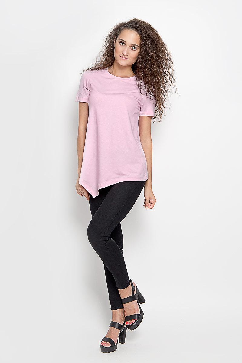 Футболка женская Ruxara, цвет: розовый. 1202700_63. Размер 44 футболка женская ruxara цвет молочный 1202700 6 размер 52