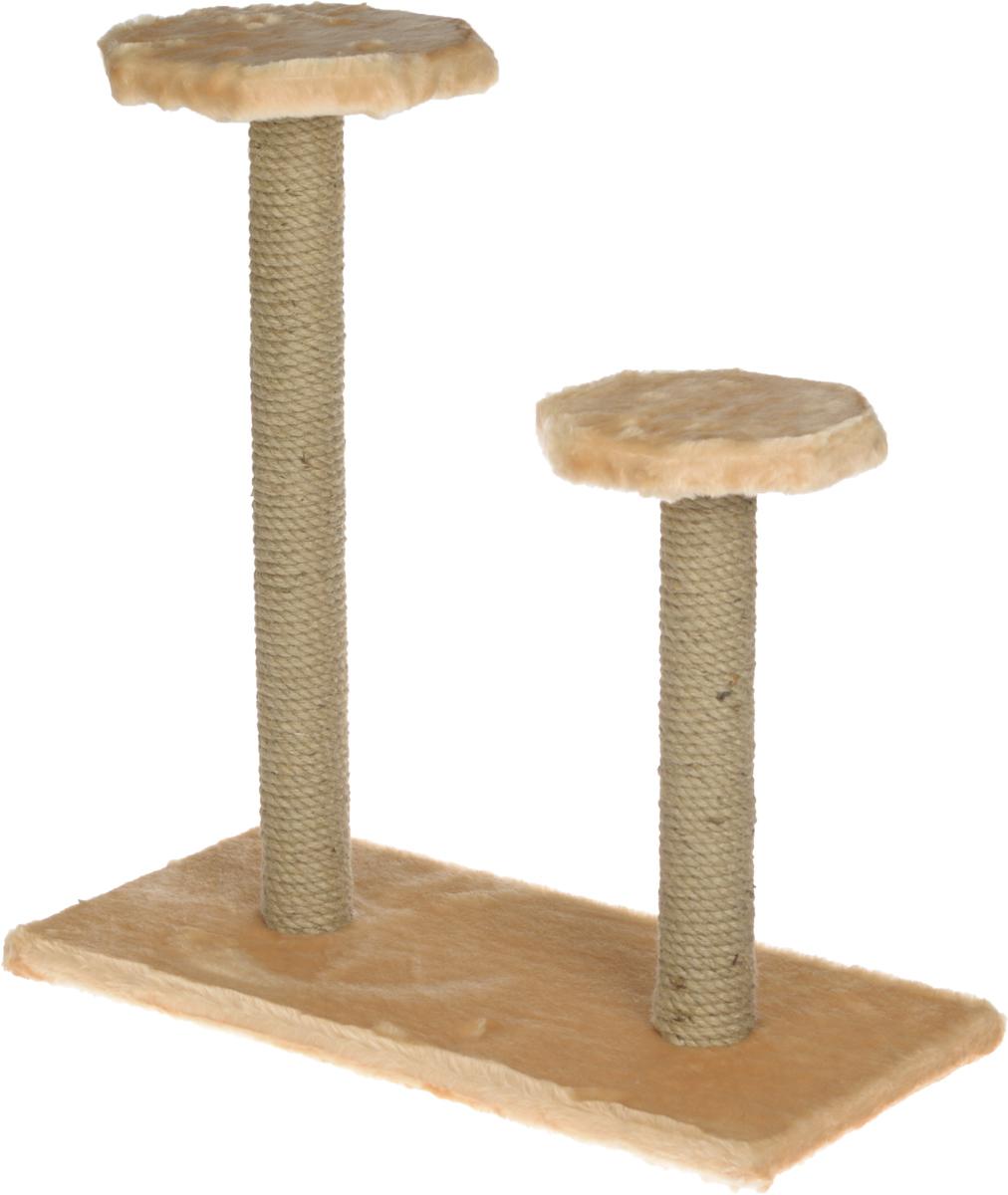 Когтеточка ЗооМарк, на подставке, с полками, цвет: бежевый, 56 х 31 х 64 см108_бежевыйКогтеточка ЗооМарк поможет сохранить мебель и ковры в доме от когтей вашего любимца, стремящегося удовлетворить свою естественную потребность точить когти. Когтеточка изготовлена из дерева, искусственного меха и джута. Товар продуман в мельчайших деталях и, несомненно, понравится вашей кошке. Имеется две полки.Всем кошкам необходимо стачивать когти. Когтеточка - один из самых необходимых аксессуаров для кошки. Для приучения к когтеточке можно натереть ее сухой валерьянкой или кошачьей мятой. Когтеточка поможет вашему любимцу стачивать когти и при этом не портить вашу мебель.