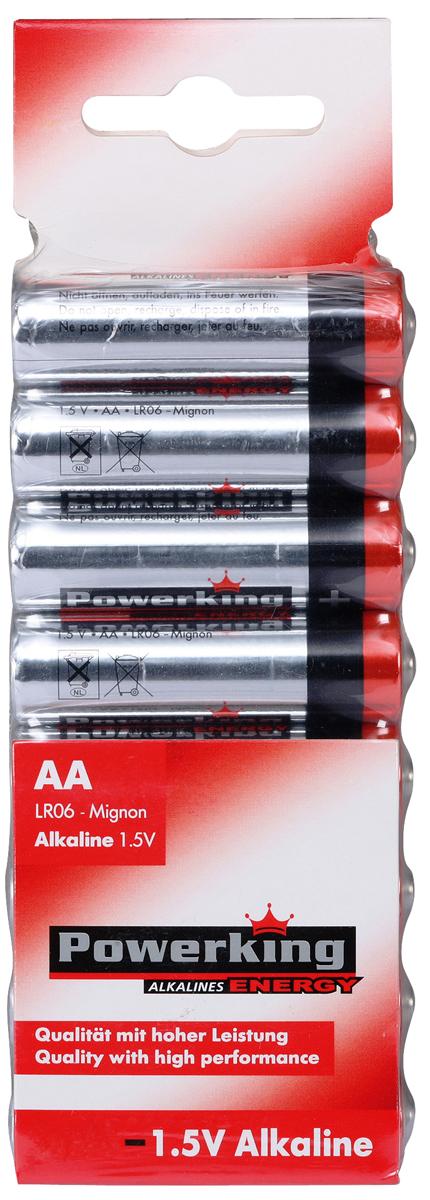 Батарейка алкалиновая PowerKing, тип АА, 1,5V, 8 шт109058Щелочные (алкалиновые) батарейки PowerKing оптимально подходят для повседневного питания множества современных бытовых приборов: электронных игрушек, фонарей, беспроводной компьютерной периферии и многого другого. Не содержат кадмия и ртути. Батарейки созданы для устройств со средним и высоким потреблением энергии. Работают в 10 раз дольше, чем обычные солевые элементы питания. PowerKing - высокое качество и максимальная производительность!
