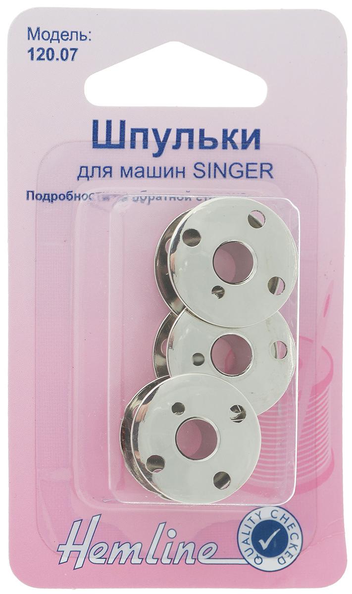 Шпульки Hemline, для швейных машин Singer, 3 шт120.07Шпульки Hemline, изготовленные из стали, подходят к большинству машин Singer с верхней загрузкой шпулек, кроме моделей с автоматической загрузкой шпулек.Размер шпульки: 2,1 х 2,1 х 1 см.