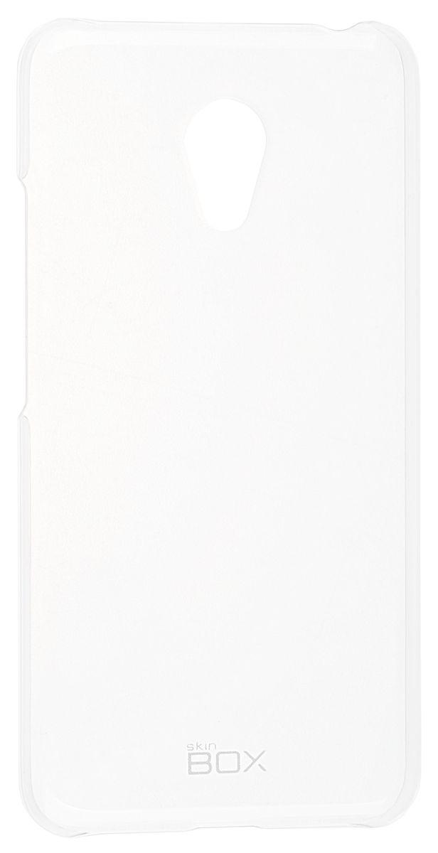все цены на  Skinbox Crystal 4People чехол-накладка для Meizu M3 mini, Clear  онлайн