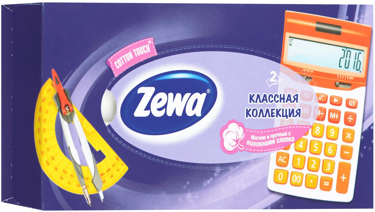 Zewa Платки косметические в коробке Everyday, двухслойные, цвет: фиолетовый, калькулятор, 100 шт140814757_фиолетовый