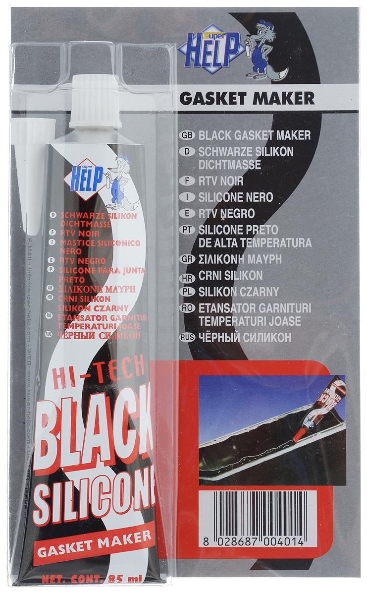 Герметик силиконовый SuperHelp, высокотемпературный, цвет: черный, 85 млK100Силиконовый герметик SuperHelp предназначен для восстановления и замены большинства автомобильных прокладок, склеивания деталей из металла, резины, бумаги, ткани, асбестовых уплотнителей, войлока, дерева. Образует эластичную, долговечную, стойкую к агрессивной среде прокладку. Герметик имеет термостойкость от -62 до +315°C.