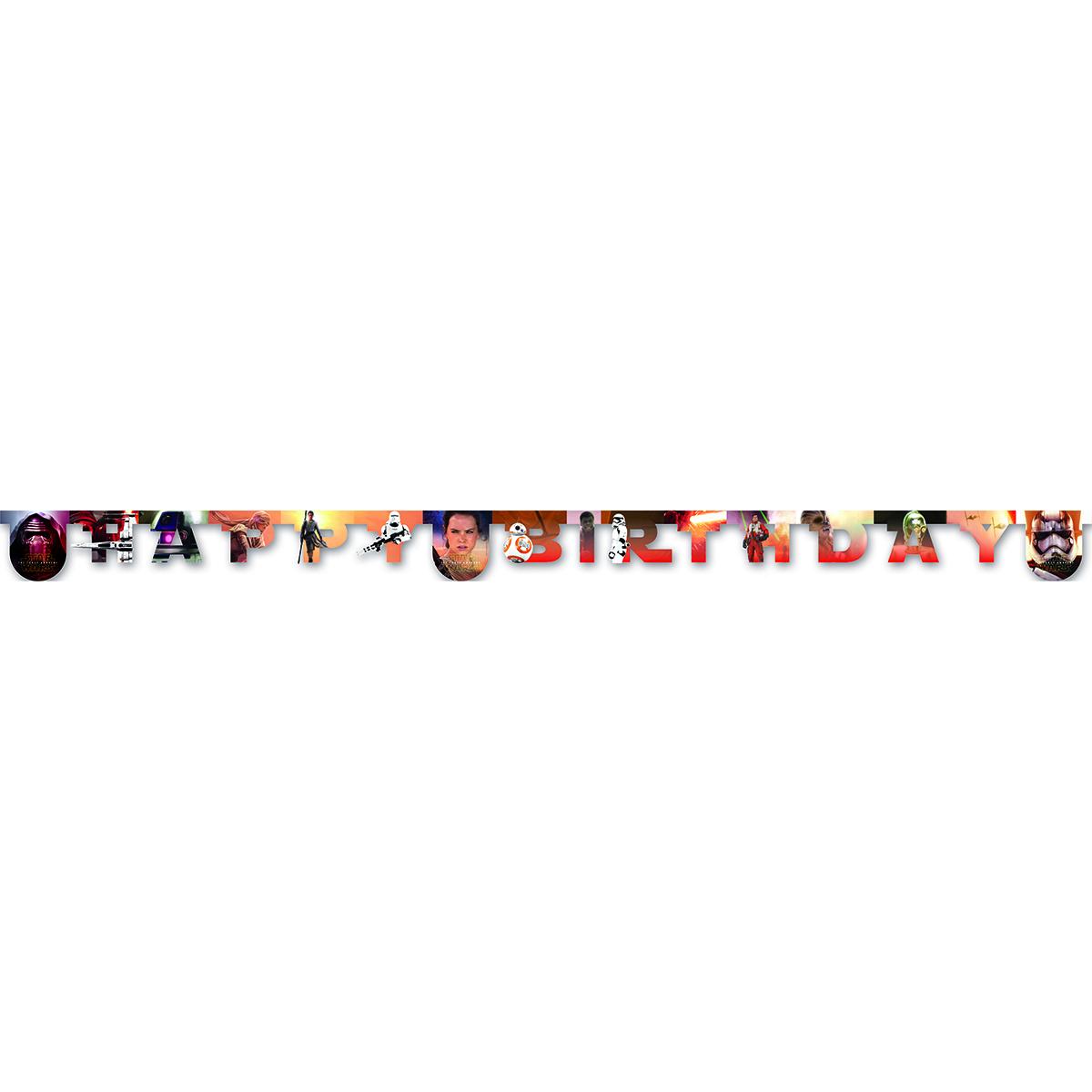 Procos Гирлянда-буквы Happy Birthday Звездные войны гирлянды procos гирлянда самолеты 9 флажков