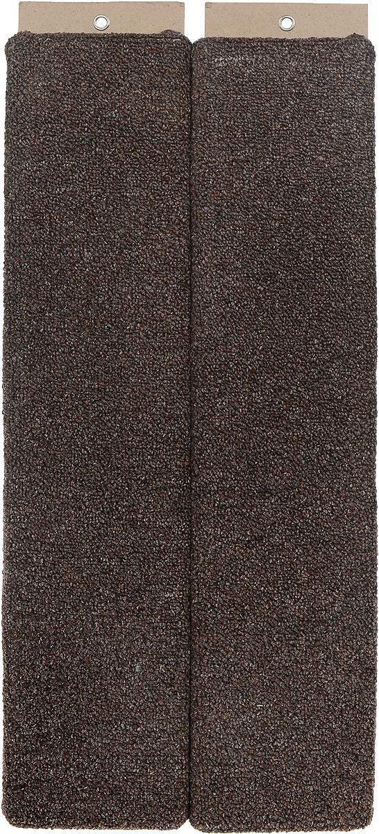 Когтеточка Меридиан, настенная, угловая, цвет: темно-коричневый, бежевый, длина 68 см126_зебра, серыйУгловая когтеточка Меридиан предназначена для стачивания когтейвашей кошки и предотвращения их врастания. Волокна ковролина обеспечивает естественныйуход за когтями питомца. Когтеточка позволяетсохранить неповрежденными мебель и другие предметы интерьера.Угловая когтеточка может крепиться на смежных поверхностях стен и пола. Длина когтеточки: 68 см. Длина рабочей части: 65 см.