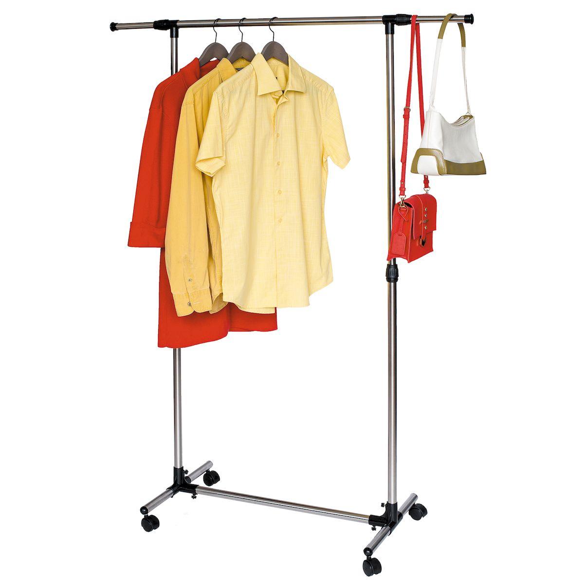Стойка для одежды Tatkraft PEGASUS, с усиленной базой, боковые телескопические штанги вешалка для одежды tatkraft karta напольная цвет белый черный высота 173 см