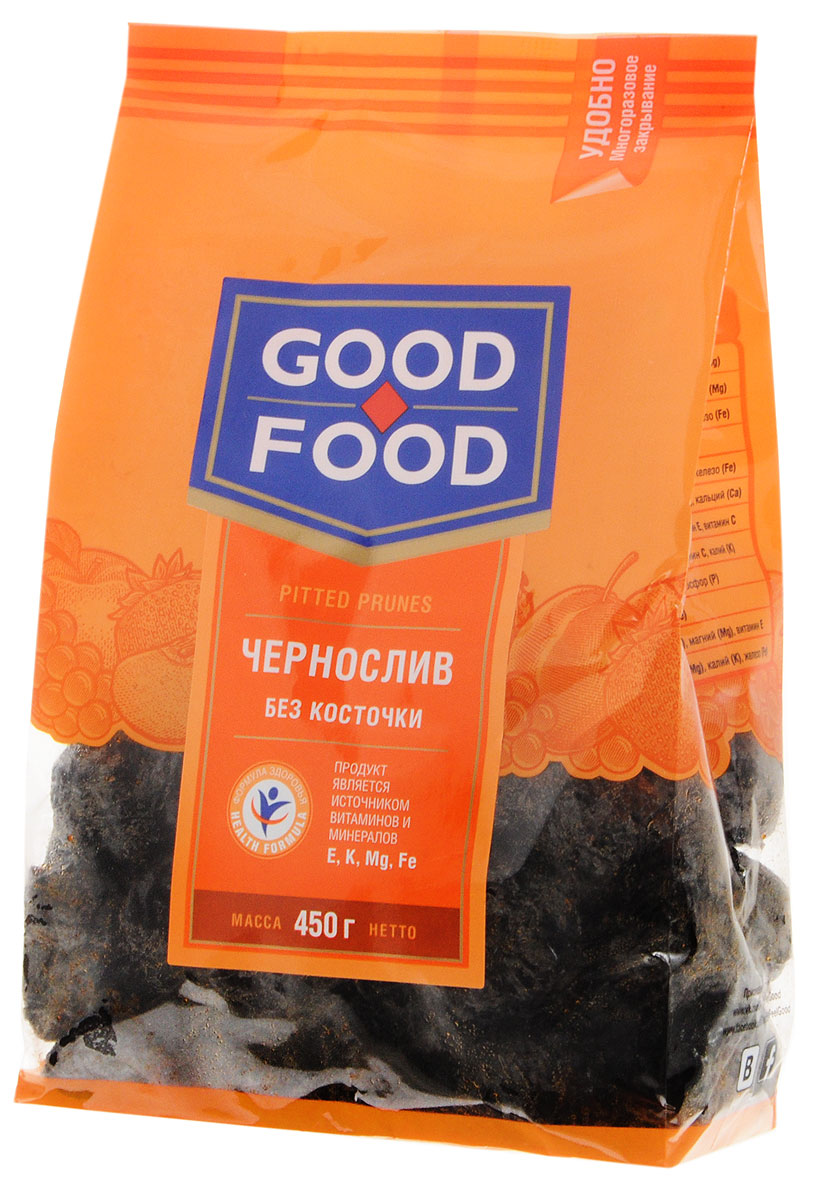 Good Food черносливсушеный без косточки,450г пудовъ рижский хлеб 500 г