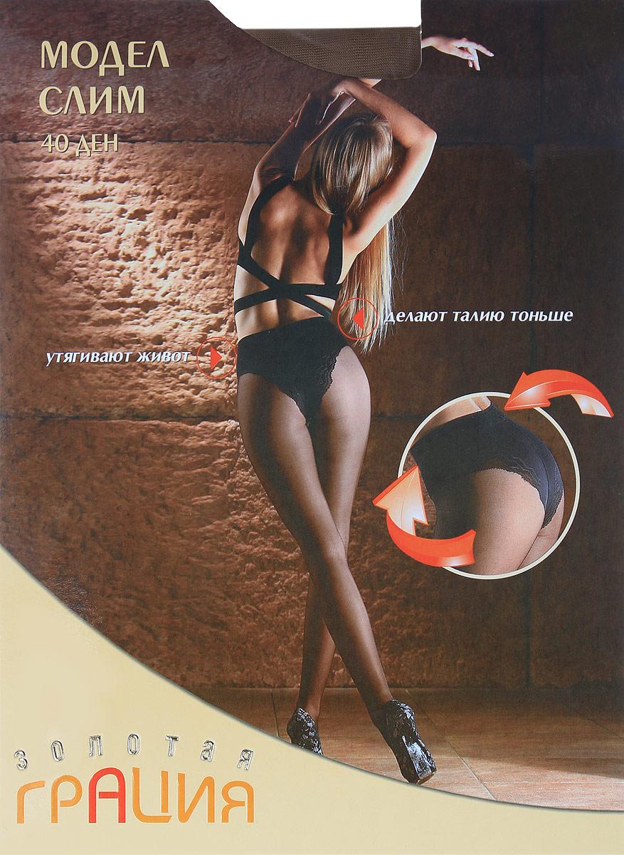 Колготки женские Золотая Грация Модел Слим 40, цвет: дымчатый. Размер 3 (44) колготки классические золотая грация браво 40 цвет дымчатый размер 4