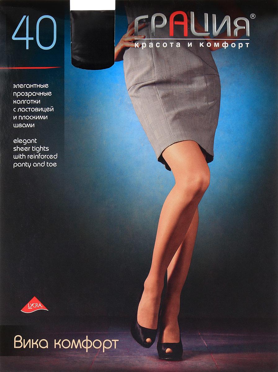 Колготки женские Грация Вика комфорт 40, цвет: черный. Размер 6 (50) колготки грация колготки леди икс 40