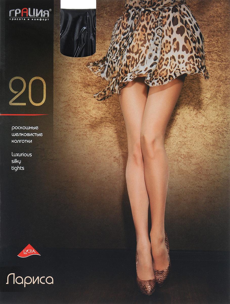 Колготки женские Грация Лариса 20, цвет: черный. Размер 4 (46) колготки giulia колготки фантазия модель monica 02