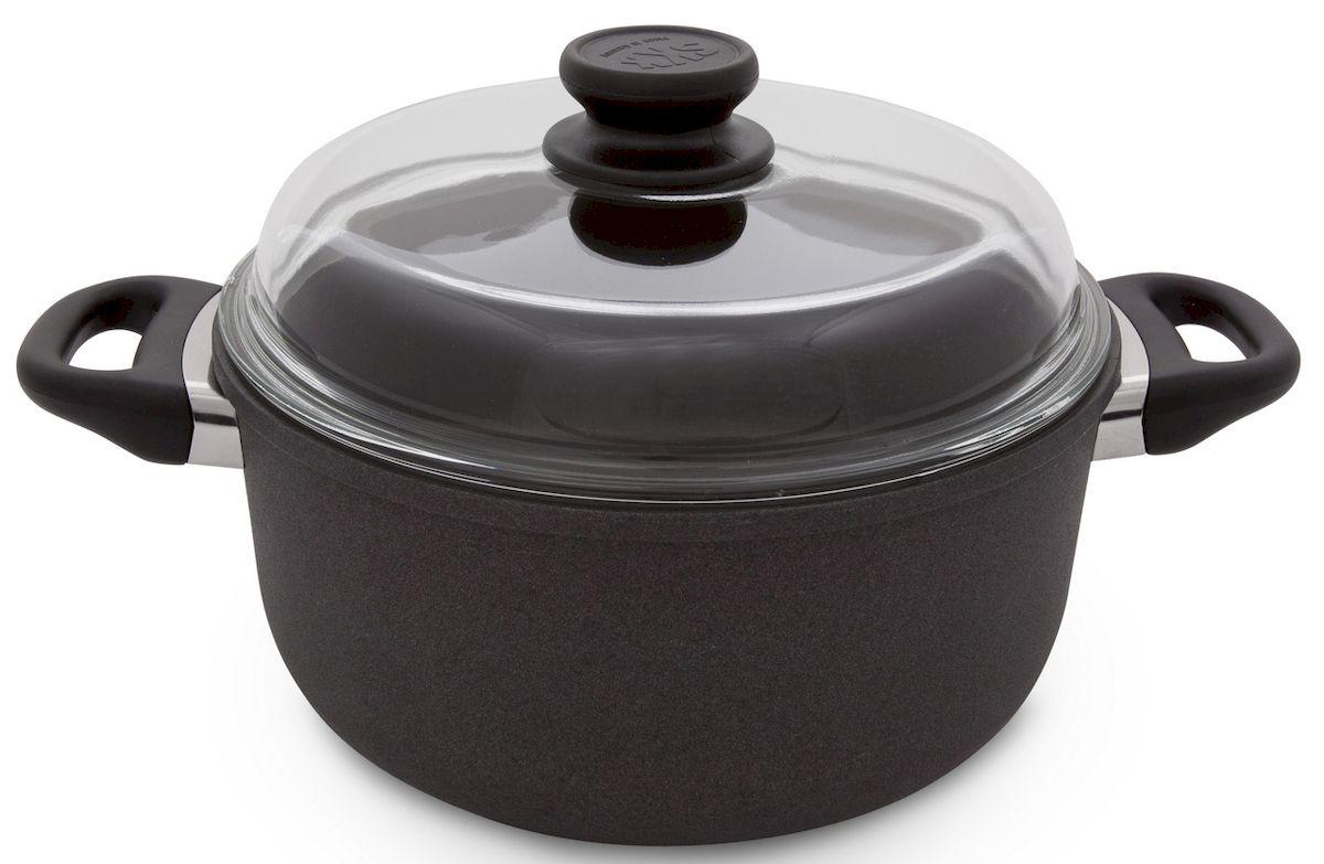 Кастрюля SKK Titanium 2000, с крышкой, 5 л0256Кастрюля со стеклянной крышкой, изготовленная из литого алюминия,идеально подходит дляжаркого, овощей и тушения мяса. Дно способствуетравномерному распределению тепла. Кастрюля снабженавысококачественным пятислойным антипригарным титановым покрытием.Ручки выполнены из бакелита. Изделие не деформируется даже при очень высоких температурах. Подходитдля всех источников тепла, кроме индукции. Диаметр крышки: 26 см.Высота стенок: 12,5 см. Объем: 5 литра.